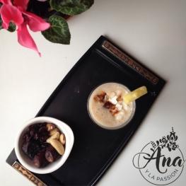 Pineapple-banana-coconut smoothie